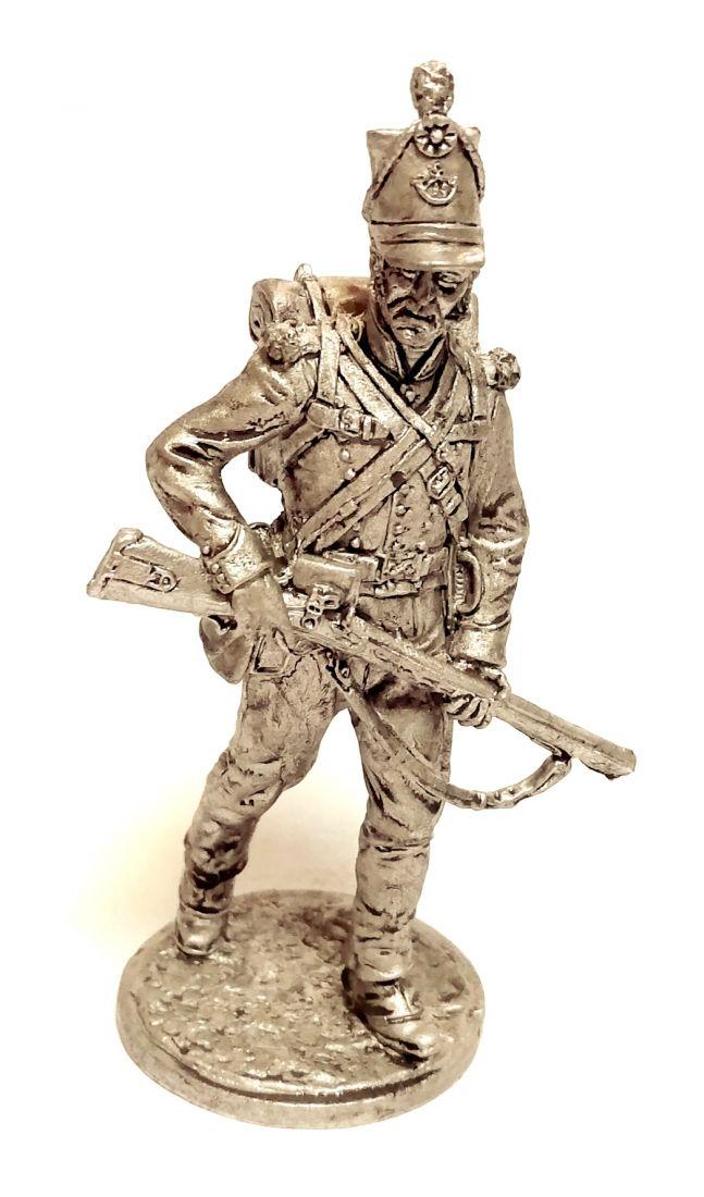 Фигурка Рядовой 95-го стрелкового полка. Великобритания, 1810-15 гг. олово