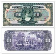 Бразилия 1000 милрейс 1926. República Federativa do Brasil Caixa de Estabilização. Выпуск 1926-1927 гг