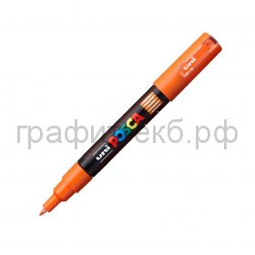Маркер декоративный UNI POSKA 0,7мм оранжевый PC-1M
