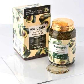 Ампульная сыворотка для лица с авокадо Farmstay All-In-One Intensive Moist Ampoule 250 мл