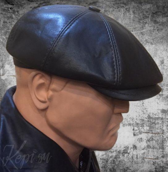 Кепи-кожа-мужская-шапка