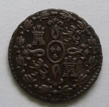 2 мараведи 1831 Испания AUNC Редкость