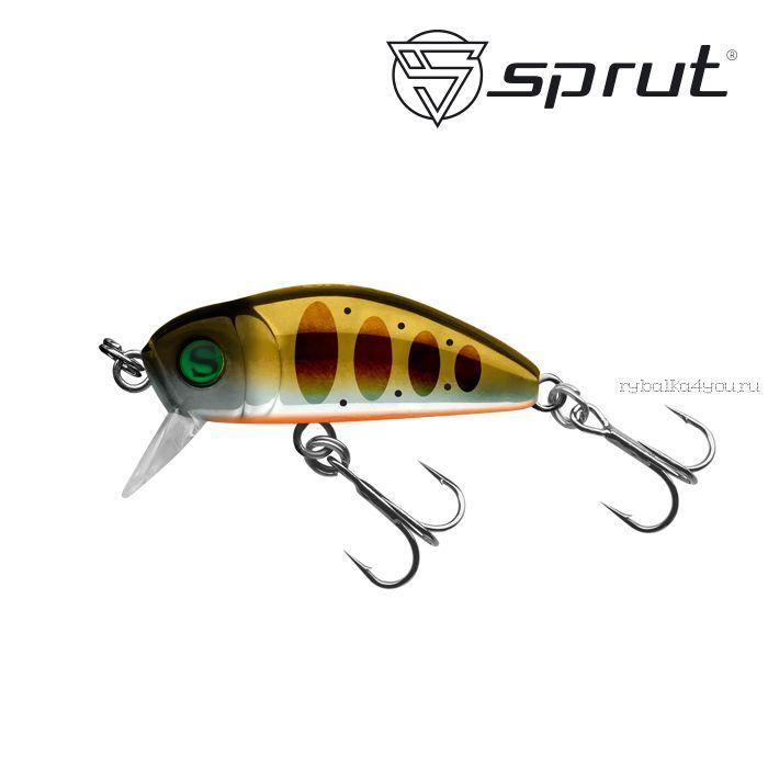 Воблер Sprut Taburo Trout 35S  35 мм / 2,7 гр / Заглубление: 0,1-0,5 м / цвет: GDN1