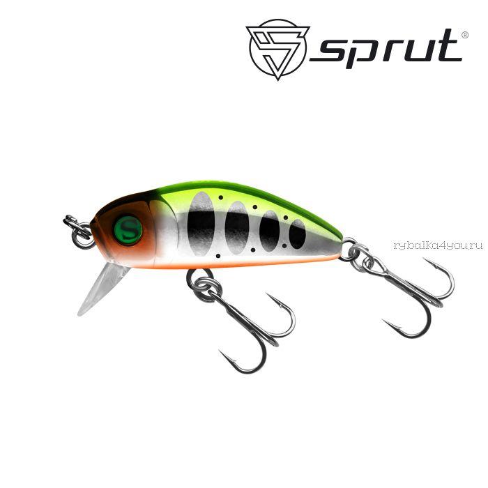 Воблер Sprut Taburo Trout 35S  35 мм / 2,7 гр / Заглубление: 0,1-0,5 м / цвет: SLTR1