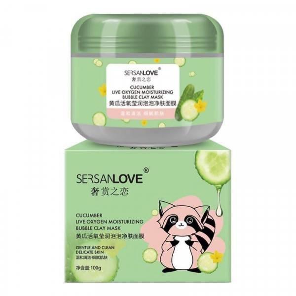 Пузырьковая маска с экстрактом Огурца Cucumber Live Oxygen Skin Cleanser (14180)