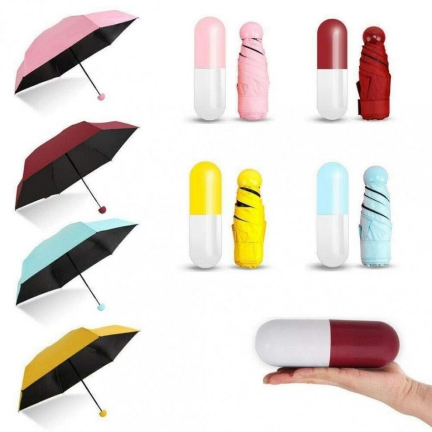 Мини зонт в футляре Капсула (606350)