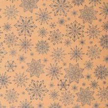 Бумага упаковочная крафтовая «Снежинки», 50 × 70 см,набор 10 листов