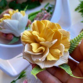 Силиконовая форма «Нарцисс махровый» D 6 см H 5 см вес в мыле 55 гр