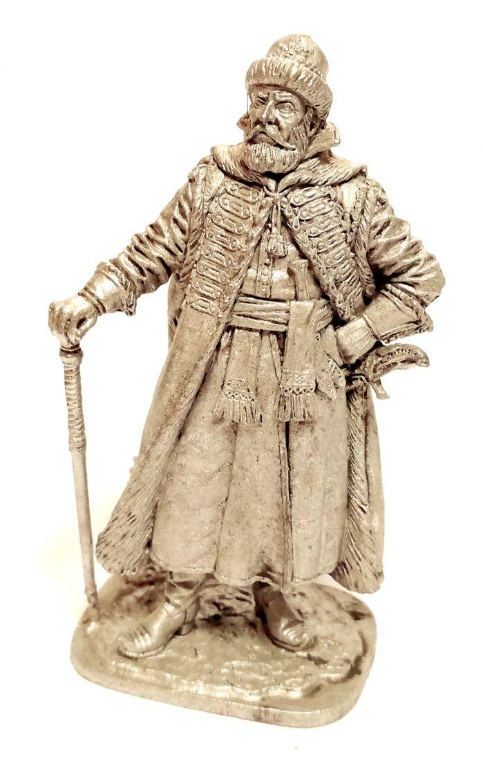 Фигурка Стрелецкий голова, Россия 17 век олово