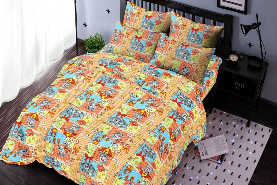 Бязь [оранжевый] Малыши постельное белье