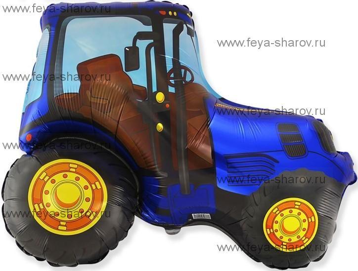 Шар Трактор Синий 94 см