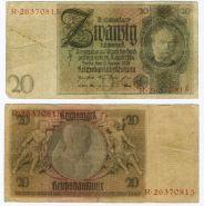 Германия - Германия 20 марок 1929 год (Веймарская республика)