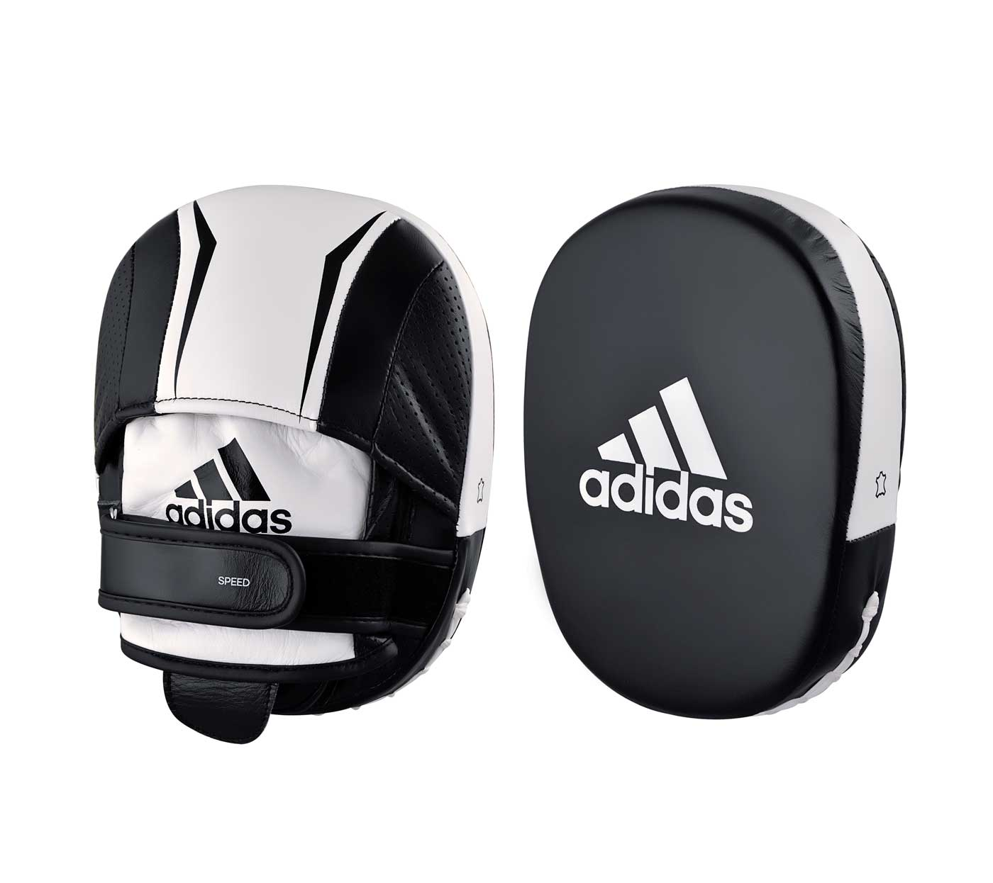 Лапы Adidas Speed 550 Micro Air Focus Mitt черно-белые,  артикул adiSP550FM