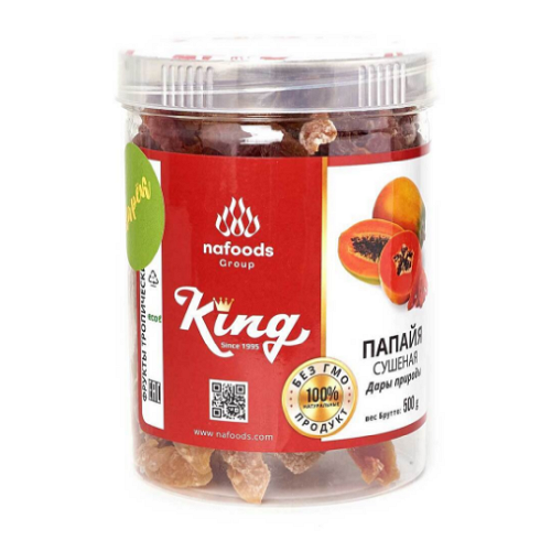 Папайя сушеная натуральная Кинг, 500г