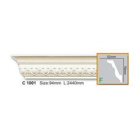 Потолочный Плинтус С Рисунком Fabello Decor С 1001 Д244хВ7.9хТ5.2 см / Фабелло Декор