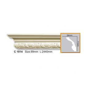 Потолочный Плинтус С Рисунком Fabello Decor С 1014 Д244хВ7хТ5.5 см / Фабелло Декор