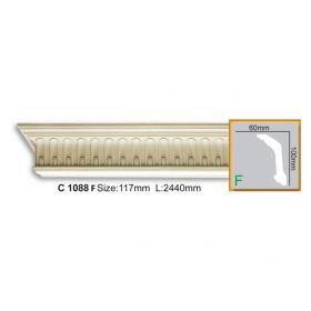 Потолочный Плинтус С Рисунком Fabello Decor С 1088 Flex Д244хВ10хТ6 см / Фабелло Декор