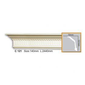 Потолочный Плинтус С Рисунком Fabello Decor С 121 Д244хВ12.1хТ7 см / Фабелло Декор