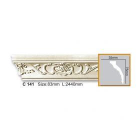 Потолочный Плинтус С Рисунком Fabello Decor С 141 Д244хВ7.5хТ3.5 см / Фабелло Декор