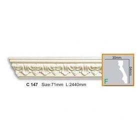 Потолочный Плинтус С Рисунком Fabello Decor С 147 Д244хВ6.4хТ3 см / Фабелло Декор