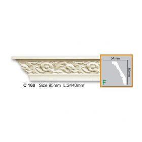 Потолочный Плинтус С Рисунком Fabello Decor С 160 Flex Д244хВ8хТ5.4 см / Фабелло Декор
