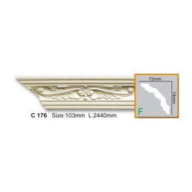 Потолочный Плинтус С Рисунком Fabello Decor С 176 Д244хВ7.4хТ7.2 см / Фабелло Декор