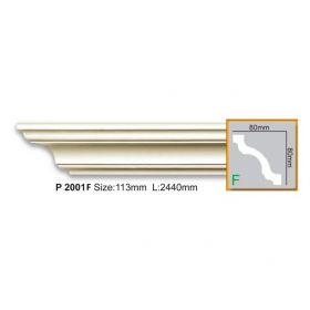 Потолочный Плинтус Fabello Decor Р 2001 Flex Д244хВ8хТ8 см / Фабелло Декор