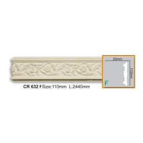 Молдинг Гладкий Fabello Decor CR632 Flex Д244хВ11хТ2 см / Фабелло Декор