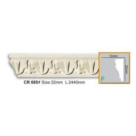 Молдинг Гладкий Fabello Decor CR685 Flex Д244хВ3,2хТ1 см / Фабелло Декор