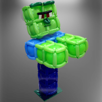 Зомби из майнкрафт, фигура из шариков