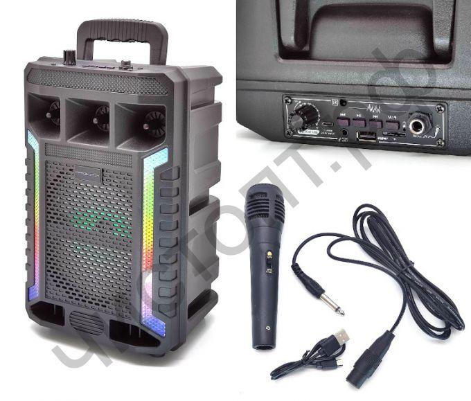 Колонка универс.с радио OT-SPB130 провод.микроф. подсветка 10W