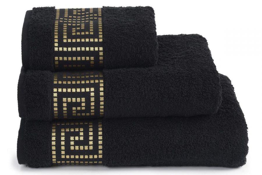 Полотенце махровое Mito Greco [черный]