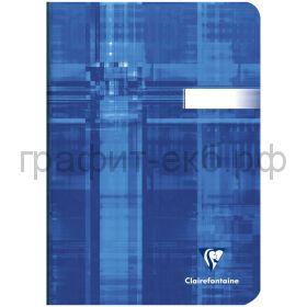 Тетрадь А5 48л.кл.Clairefontaine Mimesys глянцевая ламинация синяя 90г/м2 63682C_blue