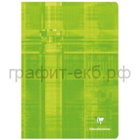 Тетрадь А4 48л.кл.Clairefontaine Mimesys глянцевая ламинация зеленая 90г/м2 63162C_green