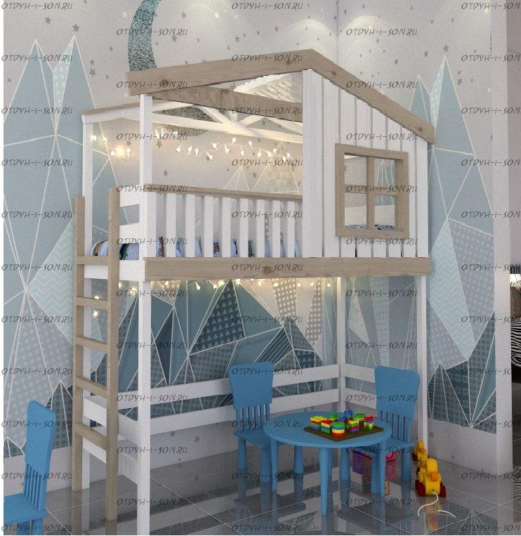 Кровать-чердак Домик Roof