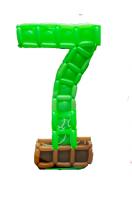 Цифра 7 из шаров стиль майнкрафт