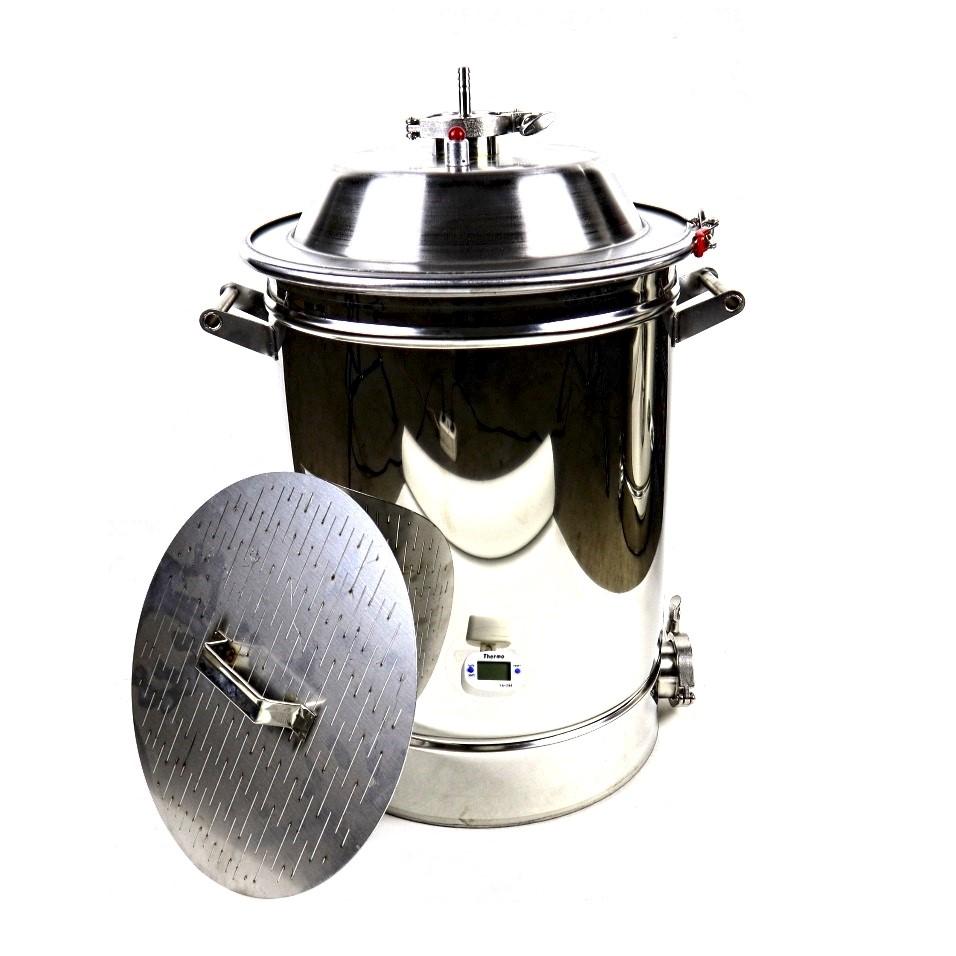 Сусловарочный котел Самогонофф, 35 литров с фальшдном и купольной крышкой