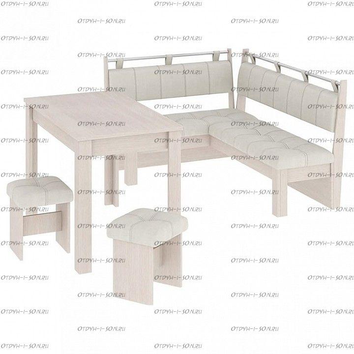 Кухня Омега МФ-102.003 дуб белфорт/лён бежевый