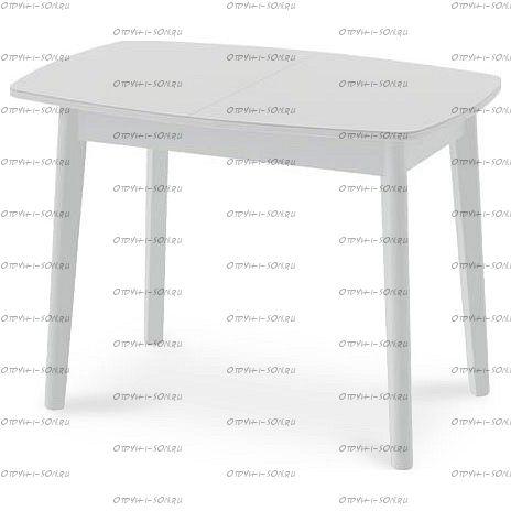 Стол обеденный Портофино СМ(ТД)-105.01.11(2) (1100 4 ноги) Белый глянец/Стекло белое