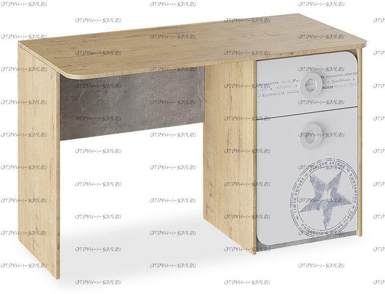 Стол письменный Мегаполис ТД-315.15.02 Бунратти/ Белый с рисунком