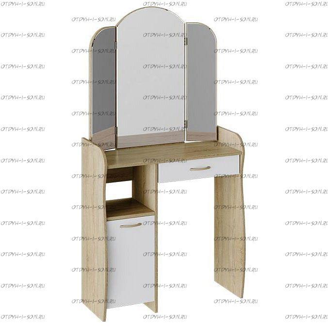 Столик туалетный София Т1 Дуб сонома/ Белый
