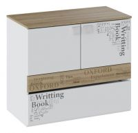 Тумба с ящиком и 2-мя дверями Оксфорд ТД-139.04.01 Ривьера/ Белый с рисунком