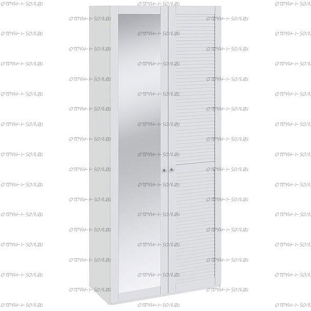 Шкаф для одежды Ривьера СМ 241.22.002 R с 1-й глухой и 1-й зеркальной Белый