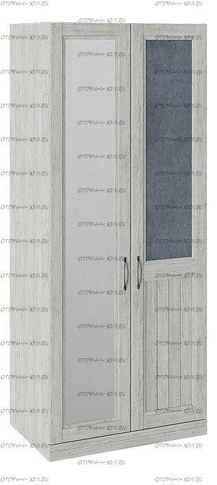Шкаф для одежды с 1 глухой и 1 зеркальной дверью правый Кантри СМ-308.07.021R (з) Замша синяя/Винтерберг