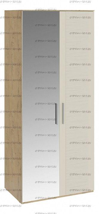 Шкаф для одежды с 1 глухой и 1 зеркальной дверями Николь СМ-295.07.005 L Бунратти/Фон Бежевый