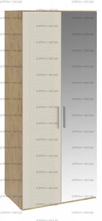 Шкаф для одежды с 1 глухой и 1 зеркальной дверями Николь СМ-295.07.005 R Бунратти/Фон Бежевый
