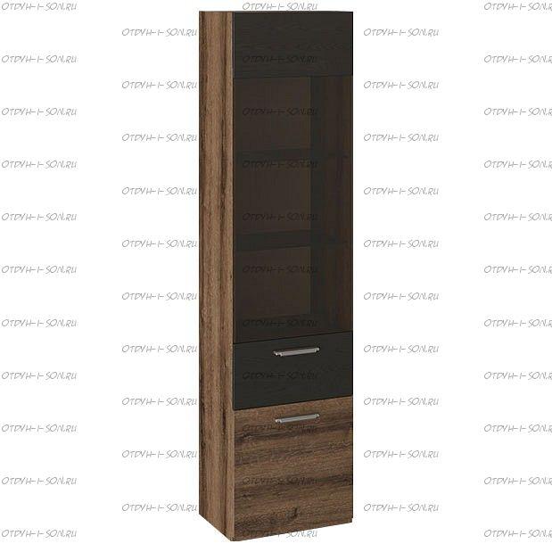 Шкаф для посуды Инфинити ТД-266.07.25 Черный, Дуб Монастырский