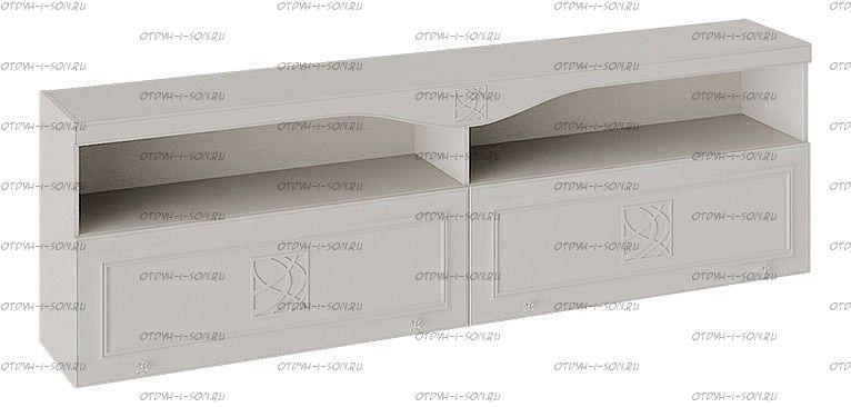 Шкаф навесной Сабрина СМ-307.12.001 с карнизом Кашемир