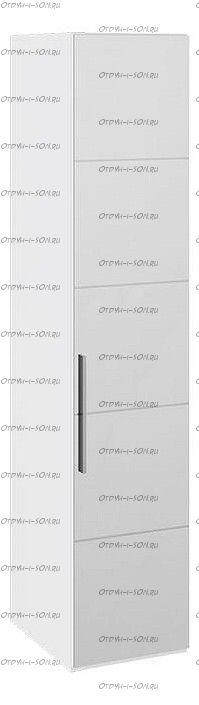 Шкаф с 1-й зеркальной дверью правый Наоми СМ-208.07.02 R Белый глянец
