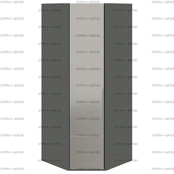 Шкаф угловой Наоми СМ-208.07.07 с 1 зеркальной дверью L Фон серый, Джут